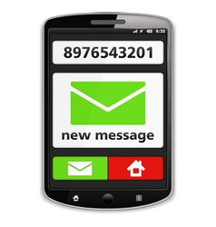 Mobile Phone with SMS vector
