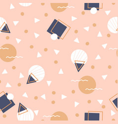 Navy and cream geometric design in a seamless vector