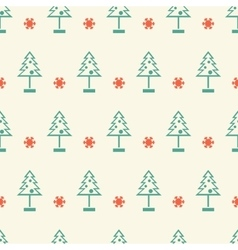 New year and Christmas tree winter seamless vector image