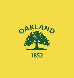 Oakland flag vector
