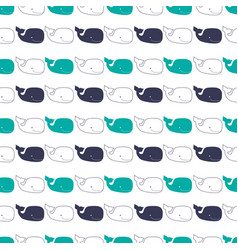 pattern with sperm whales vector image