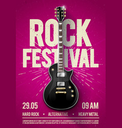 pink rock festival concert party flyer or poster vector image