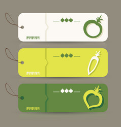 premium quality natural product label set vector image