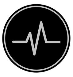 Pulse black coin vector