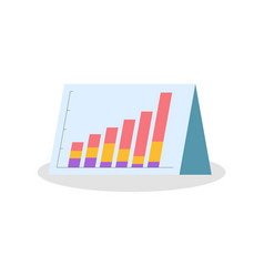 Raising graphs and charts on triangle paper vector