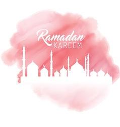 Ramadan watercolor background vector