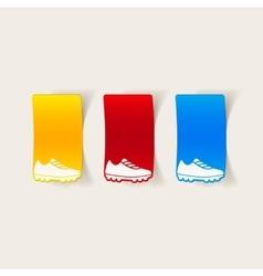 realistic design element sneakers vector image