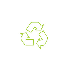recycle triangle outline eco icon with arrows in a vector image