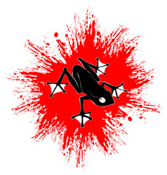 red paint frog vector image