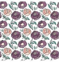 roses flower seamless pattern vector image