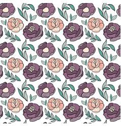 roses flower seamless pattern vector image