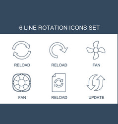 Rotation icons vector