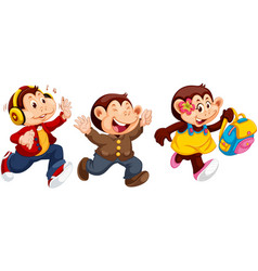 set monkey character vector image