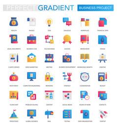 set trendy flat gradient business vector image