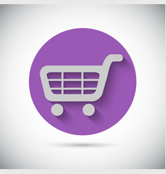 Shopping cart trolley flat icon vector