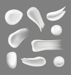 Skin creams drops creamy splashes and smear vector