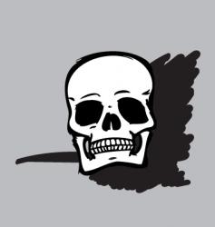 skull B&W vector image