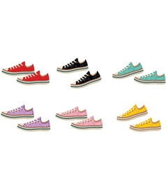 Sneakers vector image