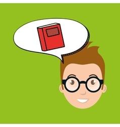 Teacher school elements icon vector