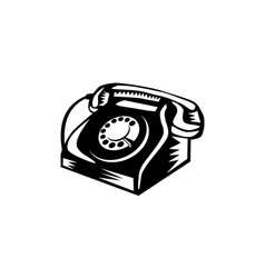 Telephone Vintage Woodcut vector