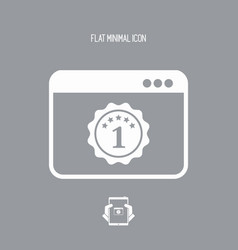 Top rated application - flat minimal icon vector