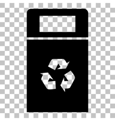 Trashcan sign Flat style black icon vector image