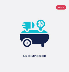two color air compressor icon from construction vector image
