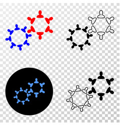 user collaboration eps icon with contour vector image