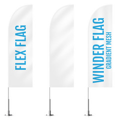 white textile flex or winder banner flags banner vector image