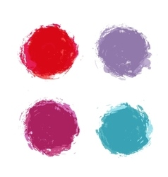 Abstract hand painted round stains set vector image vector image