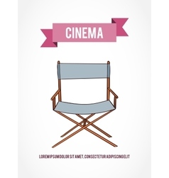 Cinema invitation card vector
