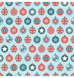 uk christmas pattern vector image vector image