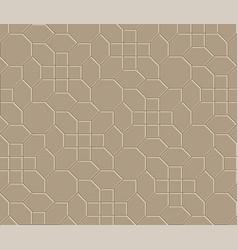 3d brown brick pathway pattern vector image