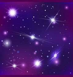bright stars and constellations in night sky vector image