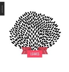 Hand drawn foliage vector image