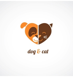 Pets icons - cats and dogs vector image vector image