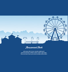 scenery amusement park style background vector image vector image