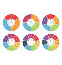 Set of infographic circle templates vector image