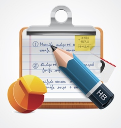 writing report icon vector image