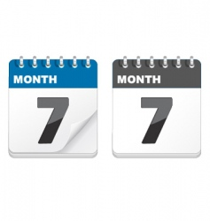calender icons vector image vector image