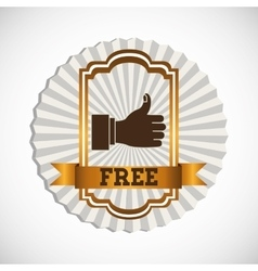 free product design vector image