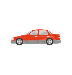 red car side view on a white vector image