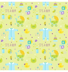 Baby Boy Background - Seamless Pattern vector image