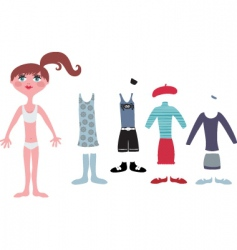 dress up vector image