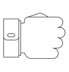 fist icon outline style vector image