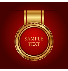 gold label with space for text vector image vector image