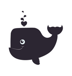 Whale cartoon drawing animal vector