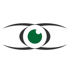 abstract eye vision graphic design icon logo vector image