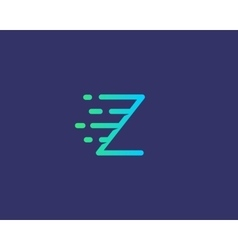 Abstract letter Z logo design template Dynamic vector image