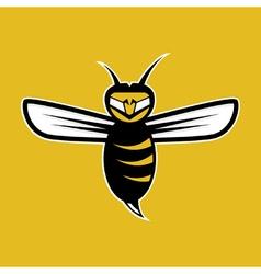Aggressive bee mascot vector
